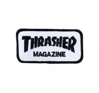 "THRASHER ワッペン ""LOGO PATCH"" (Black/White)"