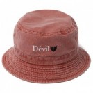 "Deviluse ハット ""DEVIL PIGMENT BUCKET HAT"" (Apricot)"