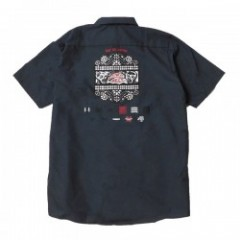 "MINOS S/Sシャツ ""MINOS MEET MEAT WORK SHIRTS"" (Charcoal)"