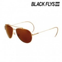 "★SALE★BLACKFLYS ""FLY AGENT"" S.GOLD/AMB GOLD MIRROR"