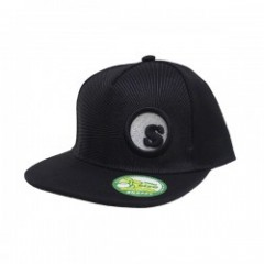 "seedleSs キャップ ""sDot burst snap back cap"" (Black)"