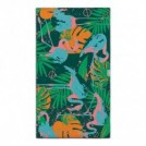 "LEUS タオル ""SURF TOWEL FLORA & FLAMINGO"" (Green)"