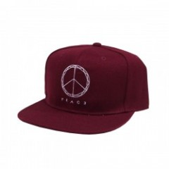 "Deviluse キャップ ""PEACE SNAPBACK CAP"" (Maroon)"
