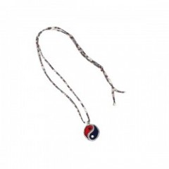 "RADIALL ""YIN YANG STAINED GLASS NECKLACE"" Blue/Red"