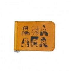 "RADIALL 財布 ""PASS MONEY CLIP BILLFOLD"" (Mustard)"