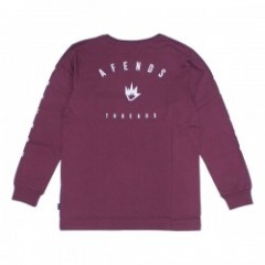 "AFENDS L/STシャツ ""THREADS L/S TEE"" (Ox Blood)"