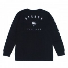 "AFENDS L/STシャツ ""THREADS L/S TEE"" (Black)"