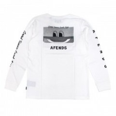 "AFENDS L/STシャツ ""GOOD TIMES L/S TEE"" (White)"