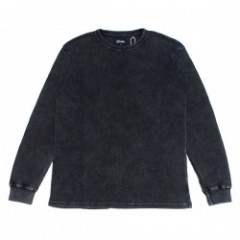 "AFENDS ワッフルニットL/STシャツ ""WAFF THERMAL L/S TEE"" (Black Acid)"