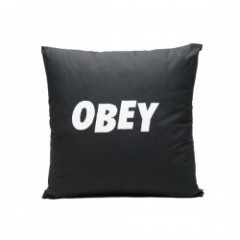 "OBEY クッション ""OBEY JUMBLED PILLOW"" (Black)"