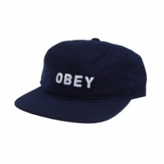 "OBEY キャップ ""AFTON 6PANEL CAP"" (Blue)"