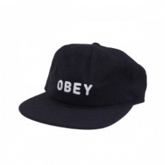 "OBEY キャップ ""AFTON 6PANEL CAP"" (Black)"