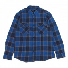 "BRIXTON L/Sシャツ ""BOWERY L/S FLANNEL"" (Blue/Navy)"