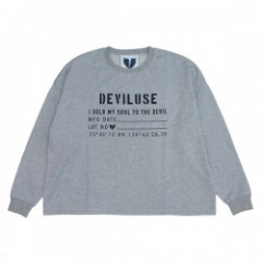 "Deviluse ""WOMAN DROP SHOULDER CREWNECK"" (Gray)"