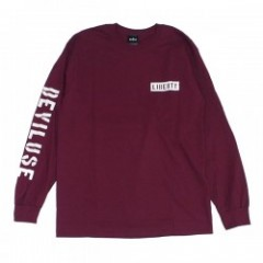 "Deviluse L/STシャツ ""LIBERTY LONG SLEEVE TEE"" (Maroon"