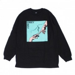 "OBEY L/STシャツ ""SPARK OF LIFE L/S TEE"" (Black)"