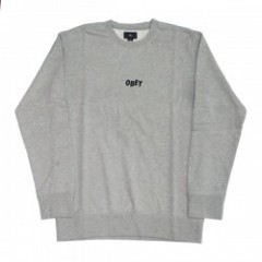 "OBEY クルースウェット ""JUMBLE BARS CREW SWEAT"" (H.Gray)"
