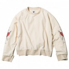 "Deviluse レディースクルースウェット ""WOMAN DROPSHOULDER CREWNECK"" (Natural)"