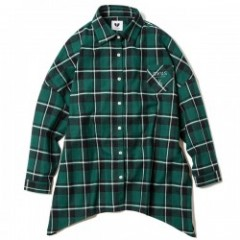 "Deviluse レディースL/Sシャツ ""WOMAN CHECK SHIRTS"" (Green)"