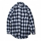 "Deviluse L/Sシャツ ""CHECK SHIRTS"" (Navy)"