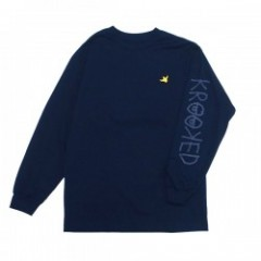 "KROOKED L/STシャツ ""OG BIRD EMB L/S TEE"" (Harbor Blue"