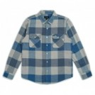 "BRIXTON L/Sシャツ ""BOWERY L/S FLANNEL"" (Off White/Dusty Blue)"