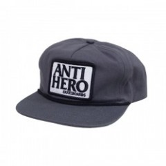 "ANTIHERO キャップ ""RESERVE PATCH SNAPBACK CAP"" (Gray)"