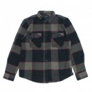 "BRIXTON L/Sシャツ ""BOWERY L/S FLANNEL"" (Heather Gray/Charcoal)"