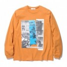 "RADIALL L/STシャツ ""HEDONISM CREW NECK T-SHIRT L/S"" (Orange)"
