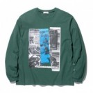 "RADIALL L/STシャツ ""HEDONISM CREW NECK T-SHIRT L/S"" (Green)"
