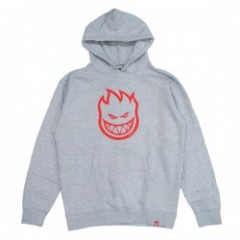 "SPITFIRE パーカ ""BIGHEAD PULLOVER HOOD"" (Gray Heather/Red)"