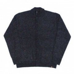"★30%OFF★ OBEY ""CHECK POINT CARDIGAN"" (Charcoal)"