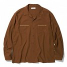 "RADIALL L/Sシャツ ""VAHJON OPEN COLLARED SHIRT L/S"" (Root Brown)"