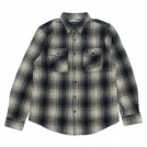"BRIXTON L/Sシャツ ""BOWERY L/S FLANNEL"" (Black/Bone)"