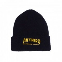 "ANTIHERO ビーニー ""SKATE CO CUFF BEANIE"" (Black)"