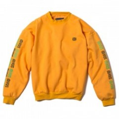 "Deviluse クルースウェット ""D DROP SHOULDER CREW NECK"" (Yellow)"