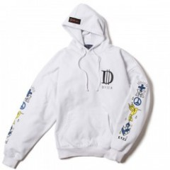 "Deviluse パーカ ""PEACE DROP SHOULDER PULLOVER HOODED"" (White)"