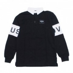 "Deviluse ラガーシャツ ""RUGGER POLO"" (Black/White)"