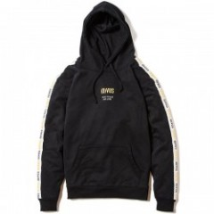 "Deviluse パーカ ""LINE PULLOVER HOODED"" (Black)"