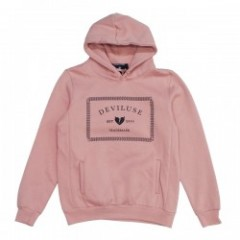"Deviluse パーカ ""TRADEMARK PULLOVER HOODED"" (Salmon)"