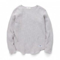 "RADIALL ""BIG WAFFLE BOAT NECK T-SHIRT L/S"" S.White"