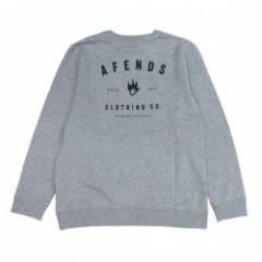 "AFENDS クルースウェット ""CLOTHING CO. CREW SWEAT"" (Haze)"
