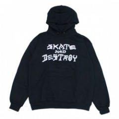 "THRASHER パーカ ""SKATE AND DESTROY HOODIE"" (Black)"