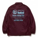 "RADIALL×CHAOS FINSHING CLUB×KUUMBA コーチジャケット ""GOLDEN HOURS WINDBREAKER JACKET"" (Burgundy)"