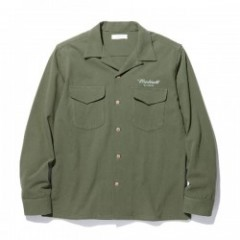 "RADIALL L/Sシャツ ""ROAD SIDE OPEN COLLARED SHIRT L/S"" (Olive)"