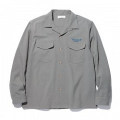 "RADIALL L/Sシャツ ""ROAD SIDE OPEN COLLARED SHIRT L/S"" (Gray)"