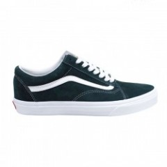 "VANS ""OLD SKOOL"" (PIG SUEDE) Darkest Spruce/True White"