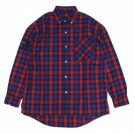 "Deviluse L/Sシャツ ""CHECK SHIRTS"" (Red)"