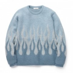 "RADIALL セーター ""HELL CREW NECK SWEATER L/S"" (Blue)"