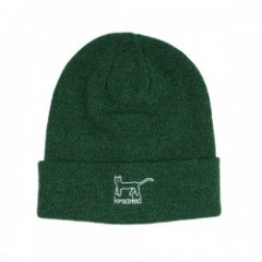 "KROOKED ビーニー ""KAT BEANIE"" (Dark Heather Green)"